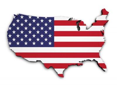 Väggdekor USA sjunker 3D-form