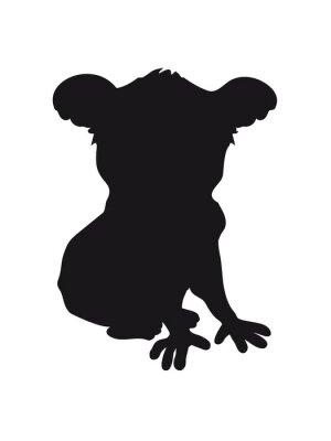 Väggdekor utformning koala svart silhuett sval komisk sitt kontur skugga