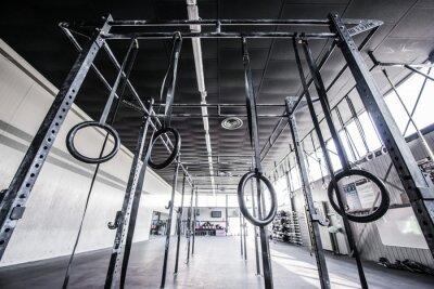 Väggdekor utsikt över crossfit gym med sol