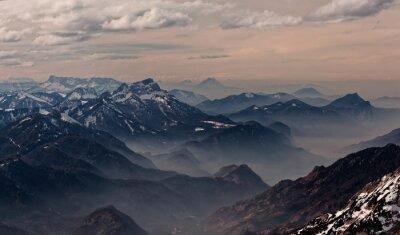 Väggdekor Utsikten från Hoellengebirge mot Salzburg, Österrike
