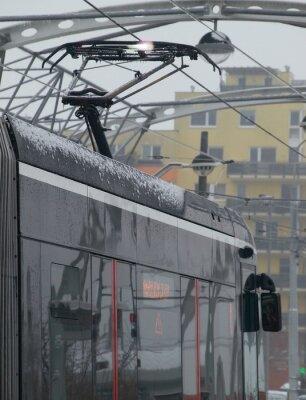 Väggdekor Utsläppen på spårvagnen på vagnen med is