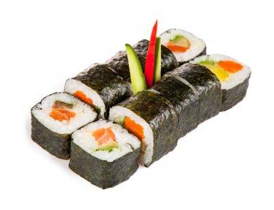 Väggdekor Utsökta sushi bitar