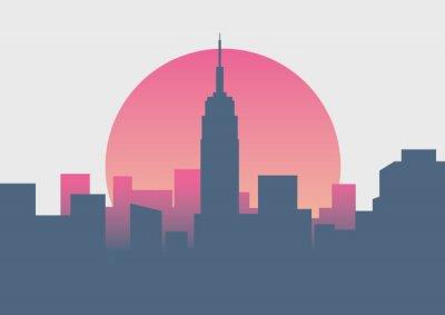 Väggdekor Vacker New York soluppgång minimal soluppgång