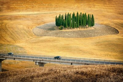 Väggdekor Vacker utsikt över sommarlandskap i Toscana