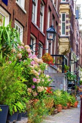 Väggdekor Vackert hus i Amsterdam