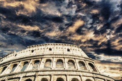 Väggdekor Vackra himlen ovanför Colosseum i Rom