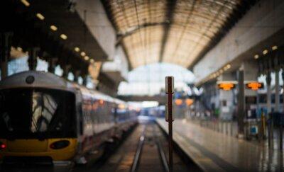 Väggdekor Väntar på tåget