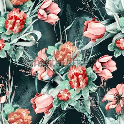 Väggdekor Vårens sömlösa mönster