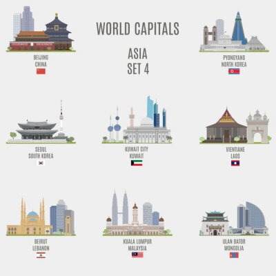 Väggdekor världens huvudstäder
