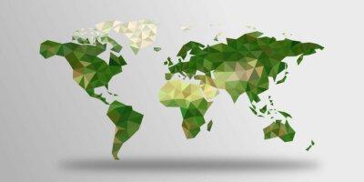 Väggdekor Världskarta från polygoner