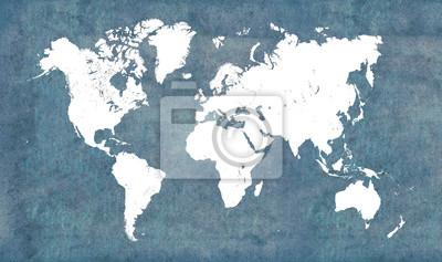 Väggdekor Världskarta, vintage