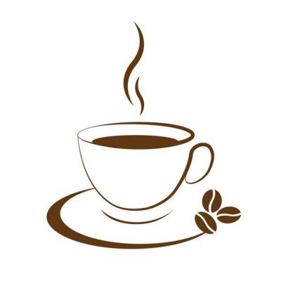 Väggdekor varm kaffekopp ikon