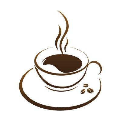 Väggdekor varm kaffekopp vektor