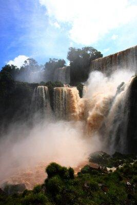 Väggdekor vattenfall / Iguazu Falls i Argentina