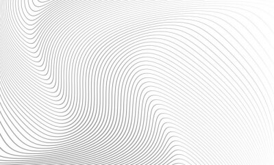 Väggdekor Vector illustration of the pattern of the gray lines abstract background. EPS10.