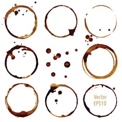 Väggdekor Vector kaffekopp fläckar