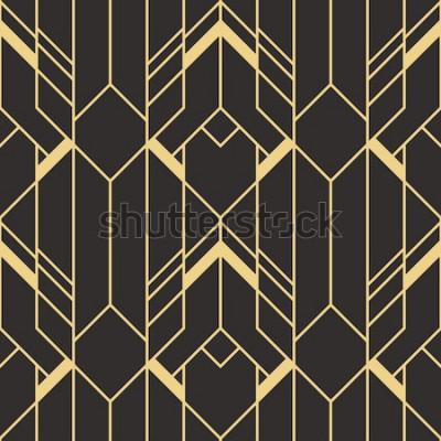 Väggdekor Vector moderna plattor mönster. Abstrakt sömlös monokrom bakgrund för art deco