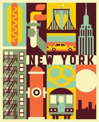 Väggdekor Vector New York background