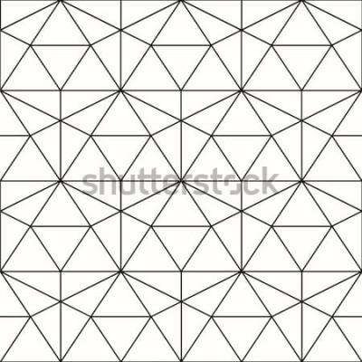 Väggdekor Vector sömlösa mönster. Geometrisk bakgrund med romb och noder. Abstrakt geometriskt mönster. Grå konsistens. Seamless geometriska mönster.