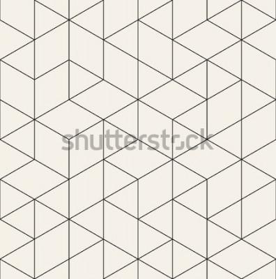 Väggdekor Vector sömlösa mönster. Modern snygg struktur med monokrom spaljé. Upprepande geometriskt triangulärt rutnät. Enkel grafisk design. Trendig hipster sakral geometri.