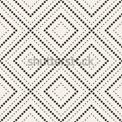Väggdekor Vector sömlösa mönster. Modern snygg struktur. Upprepande geometriska plattor med prickade romb