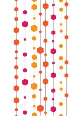 Väggdekor vektor abstrakta färgstarka ränder och formar vertikal sömlösa