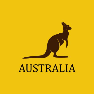 Väggdekor Vektor australien känguru