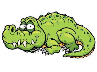 Väggdekor Vektor illustration av film krokodil