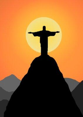 Väggdekor Vektor: Kristus Frälsaren vektor bakgrund