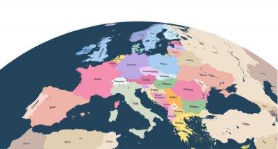 Väggdekor vektor planet jordklot med närbild på Europa kontinent