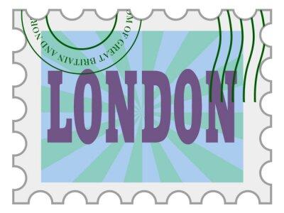 Väggdekor vektor, post stämpel London