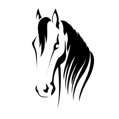 Väggdekor Vektor silhuett av ett hästhuvud