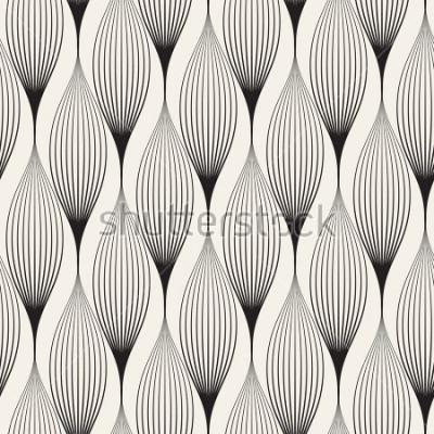 Väggdekor Vektor sömlöst mönster. Abstrakt stilig bakgrund med stiliserade kronblad