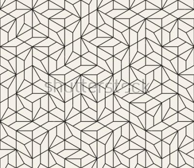 Väggdekor Vektor sömlöst mönster. Moderna stilig abstrakt konsistens. Upprepa geometriska plattor från randiga element
