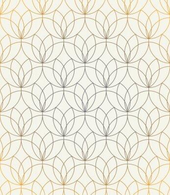 Väggdekor Vektor sömlöst mönster. Prydnad med stiliserade blommor. Geometrisk stilig bakgrund. Modern upprepande konsistens. Modern grafisk design.
