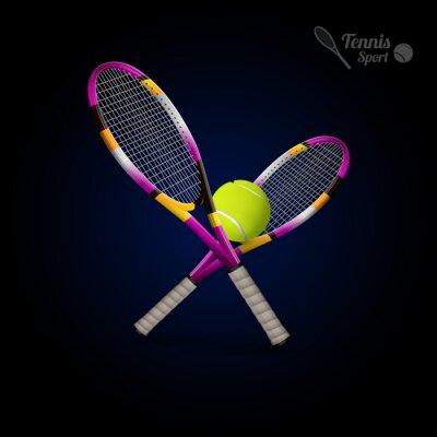 Väggdekor Vektor tennis symboler som designelement, tennisbollar, tennis r