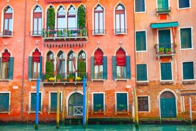 Väggdekor Venedig byggnader vid Canal Grande