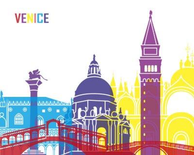 Väggdekor Venedig skyline pop