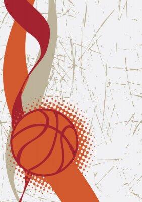 Väggdekor Vertikala basket poster.Abstract bakgrund