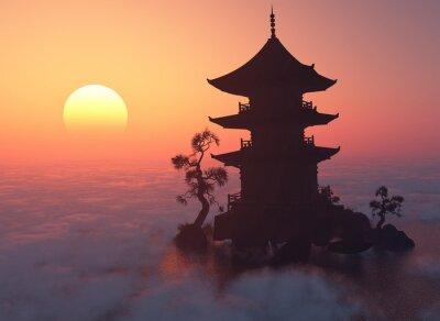 Väggdekor Vid solnedgången.
