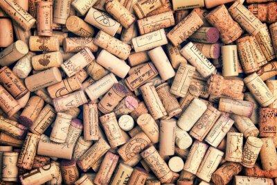Väggdekor Vin korkar bakgrund
