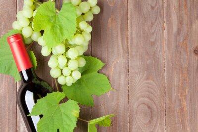 Väggdekor Vindruvor och rött vin flaska