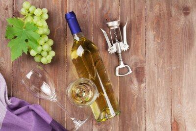 Väggdekor Vindruvor, vitt vin och korkskruv