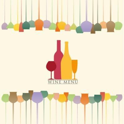 Väggdekor vinlistan