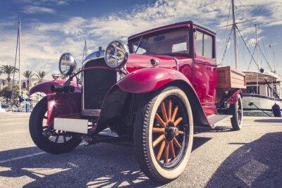 Väggdekor Vintage bil i hamn.