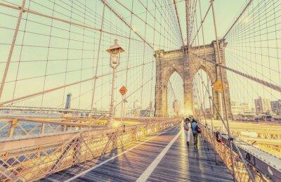 Väggdekor Vintage foto av Brooklyn Bridge i New York City