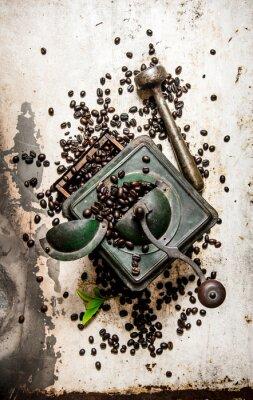 Väggdekor Vintage kaffekvarn med mortelstöt