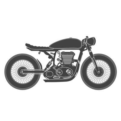 Väggdekor vintage motorcykel. cafe racer tema