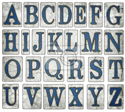 Väggdekor Vintage New Orleans Street plattor alfabetet Collection