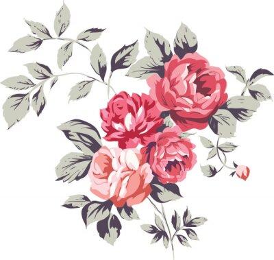 Väggdekor Vintage Pink Roses